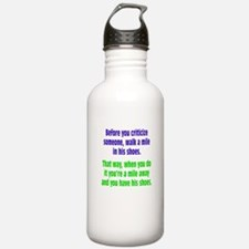 A Mile In Their Shoes Water Bottle