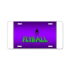 Flyball Aluminum License Plate
