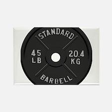 clock barbell45lb2 Magnets