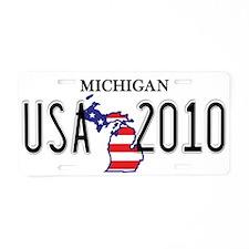 MI USA Aluminum License Plate