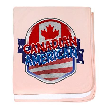 Canadian American baby blanket