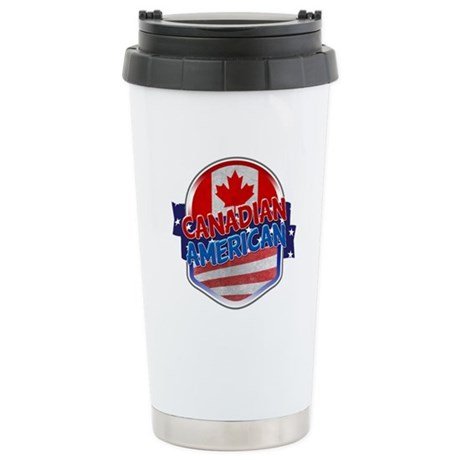 Canadian American Stainless Steel Travel Mug