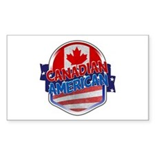 Canadian American Decal