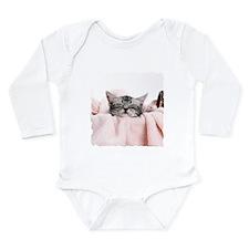 LAUNDRY KITTY Long Sleeve Infant Bodysuit