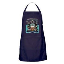 US Navy Skull and Bones Apron (dark)