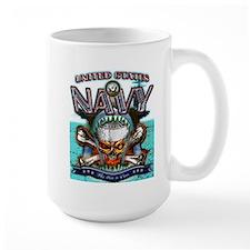 US Navy Skull and Bones Mug