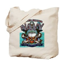 US Navy Skull and Bones Tote Bag