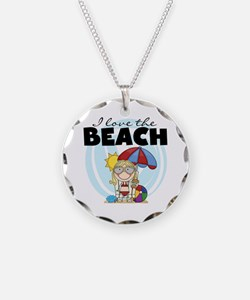 Blond Girl Love the Beach Necklace