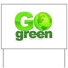 Go Green Yard Sign
