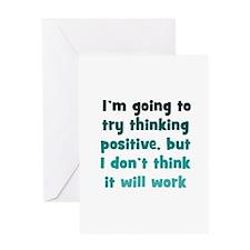 Pessimistic Positive Thinking Greeting Card