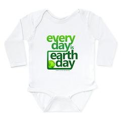 Earth Day Long Sleeve Infant Bodysuit