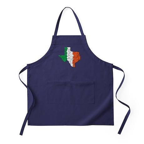 Texas Irish Flag Apron (dark)