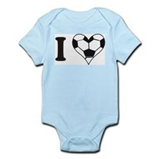 Cute Girls soccer Infant Bodysuit