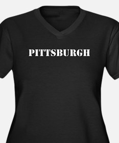 Pittsburgh - Women's Plus Size V-Neck Dark T-Shirt