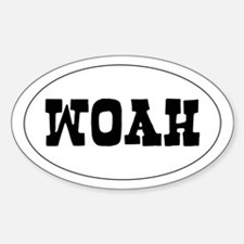 woah - Oval Decal