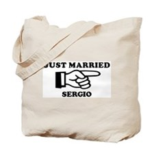 Just Married Sergio Tote Bag
