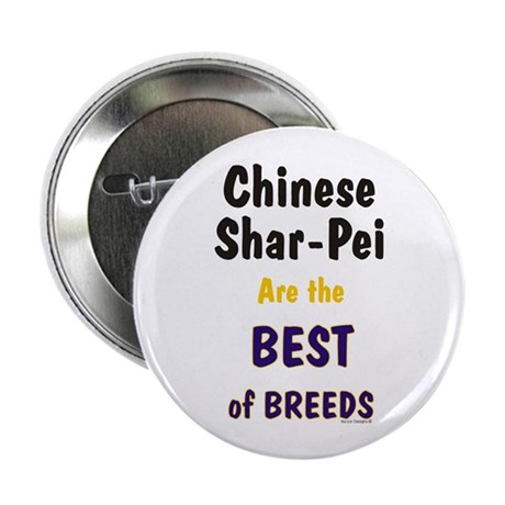 """Chinese Shar Pei Best Breed 2.25"""" Button (100 pack"""