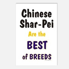 Chinese Shar Pei Best Breed Postcards (Package of