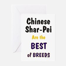 Chinese Shar Pei Best Breed Greeting Cards (Packag