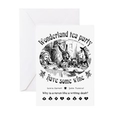 Wonderland tea party Greeting Card