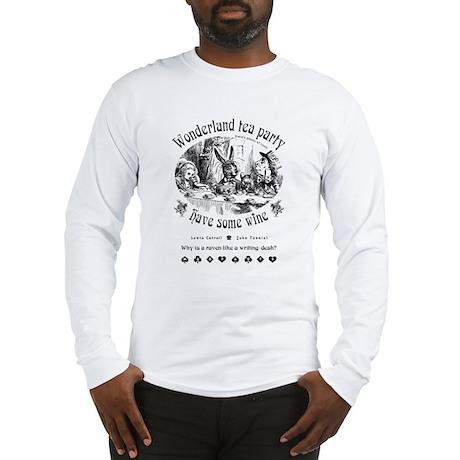Wonderland tea party Long Sleeve T-Shirt