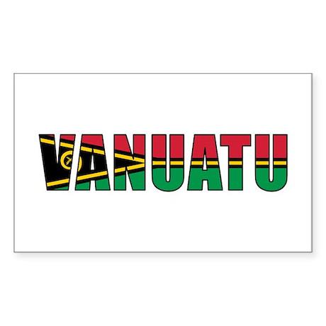 Vanuatu Sticker (Rectangle 10 pk)