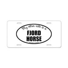 Norwegian Fjord Horse Aluminum License Plate
