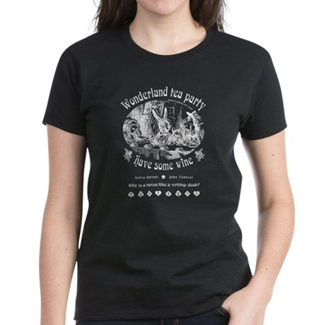 Wonderland tea party Women's Dark T-Shirt