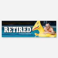 Retired Bumper Bumper Bumper Sticker