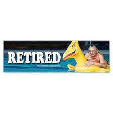 Retired Bumper Bumper Sticker