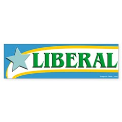 Political Liberal bumper sticker