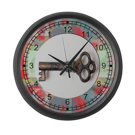 Antique Key Large Wall Clock