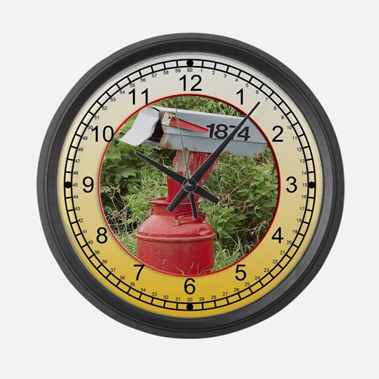 Country Mailbox Large Wall Clock