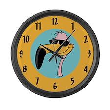 Funny Flamingo Large Wall Clock