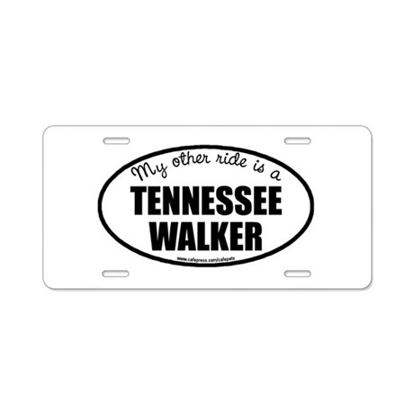 Tennessee Walking Horse Aluminum License Pla