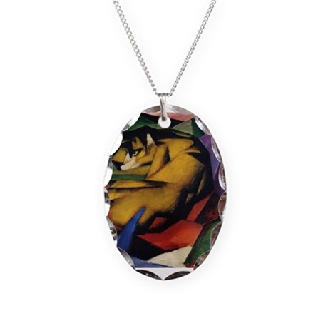 The Tiger Necklace Oval Charm