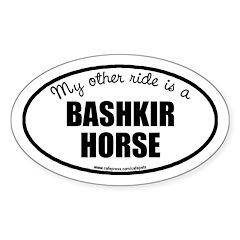 American Bashkir Curly Horse Decal