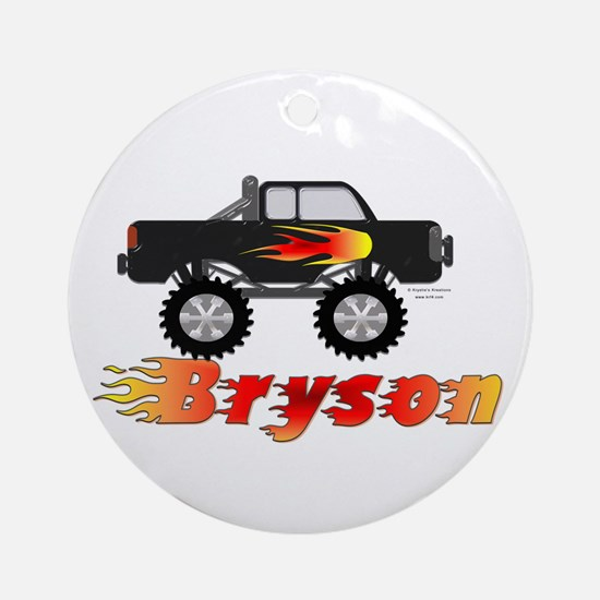 Bryson Monster Truck Ornament (Round)