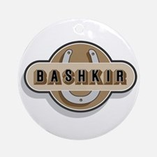 American Bashkir Curly Horse Ornament (Round)