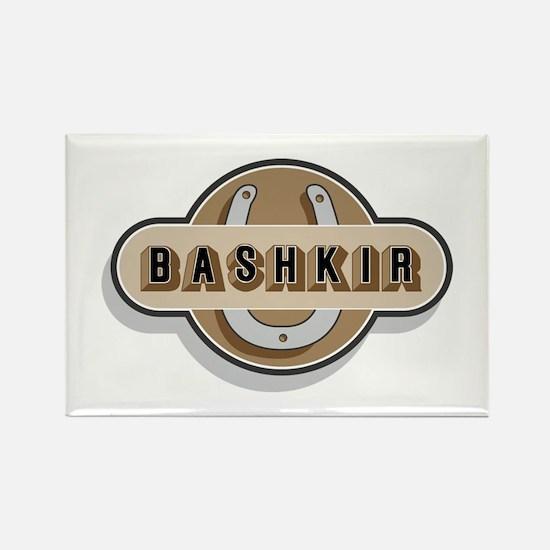 American Bashkir Curly Horse Rectangle Magnet