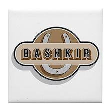American Bashkir Curly Horse Tile Coaster