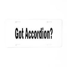 Cute Accordion Aluminum License Plate