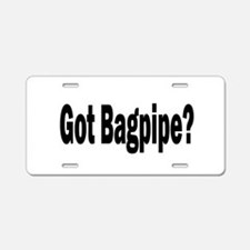 Funny Bagpipe band Aluminum License Plate