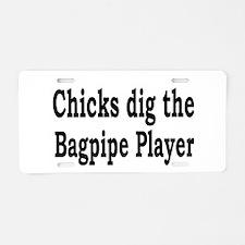 Bagpipe band Aluminum License Plate