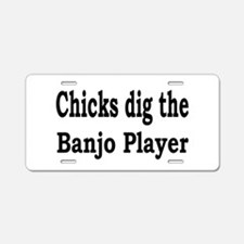 Banjo Aluminum License Plate