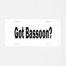 Bassoon Aluminum License Plate