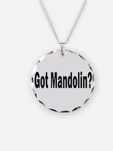 Got Mandolin? Necklace Circle Charm