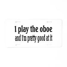 Oboe Aluminum License Plate