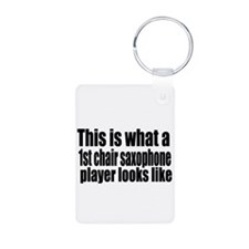 1st Chair Player Aluminum Photo Keychain