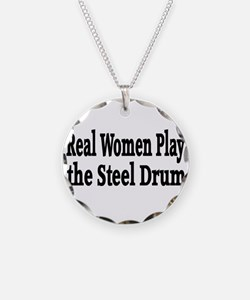 Steel Drum Necklace Circle Charm